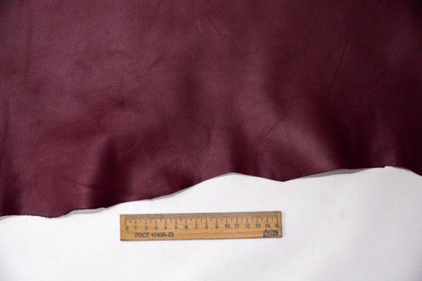 Кожа МРС, бордовая, 70 дм2. -109539