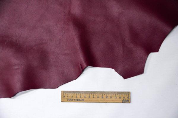Кожа МРС, бордовая, 74 дм2. -109541