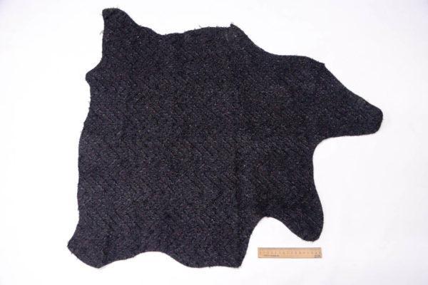 Кашемир, стеганый на коже МРС, черный, 48 дм2. -109543