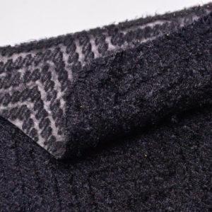 Кашемир, стеганый на коже МРС, черный, 71 дм2. -109544