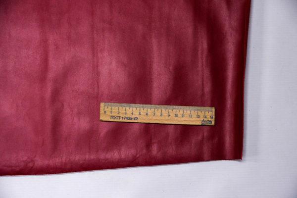 Кожа КРС, малиново-красная, 66 дм2. -109547