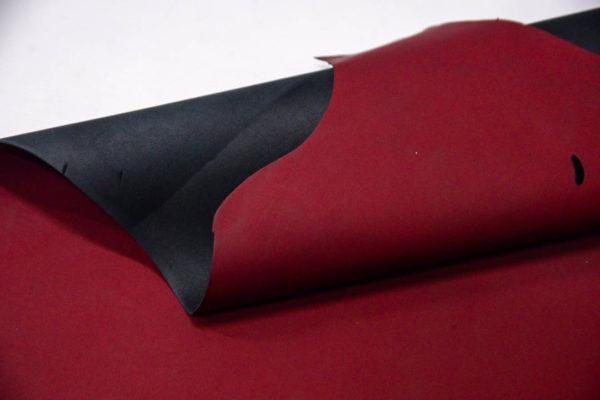 Кожа МРС, бордовая, матовая, 52 дм2. -109554