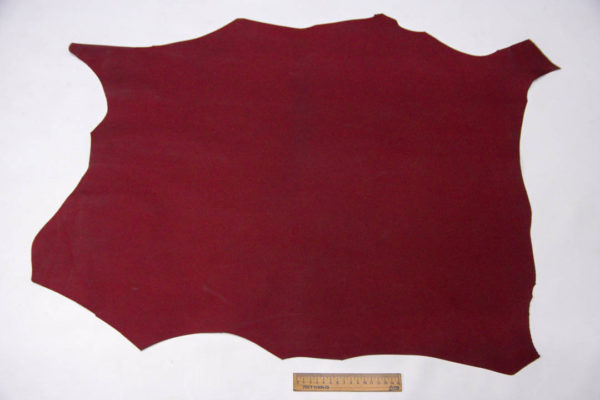 Кожа МРС, бордовая, матовая, 41 дм2. -109556