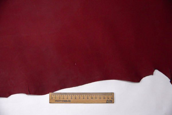 Кожа МРС, бордовая, матовая, 68 дм2. -109557