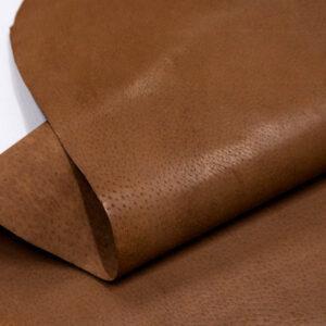 Кожподклад свиной (спилок) вощёный, светло-коричневый (нугат), 82 дм2.-401074