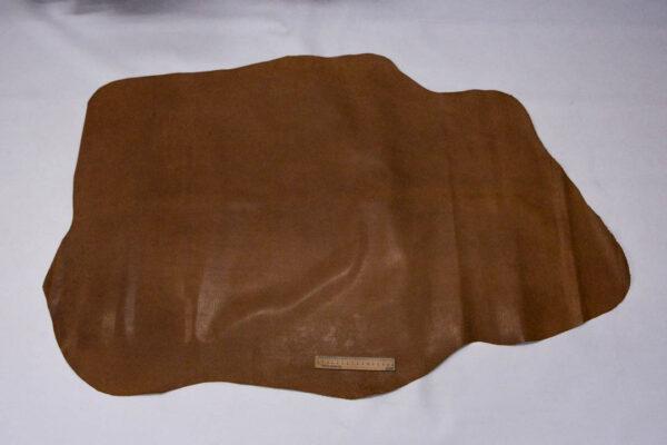 Кожподклад свиной (спилок) вощёный, светло-коричневый (нугат), 89 дм2.-401076