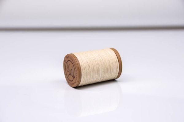 """Нить """"GALACES"""" вощеная круглая 0,55 мм. Волокно RAMIE. Белая-m000"""