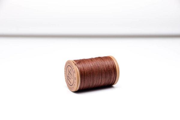 """Нить """"GALACES"""" вощеная круглая 0,55 мм. Волокно RAMIE. Коричневая-m004"""