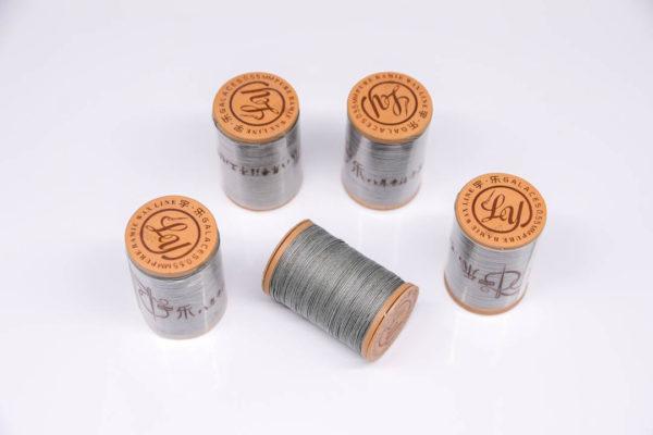 """Нить """"GALACES"""" вощеная круглая 0,55 мм. Волокно RAMIE. Серая-m007"""