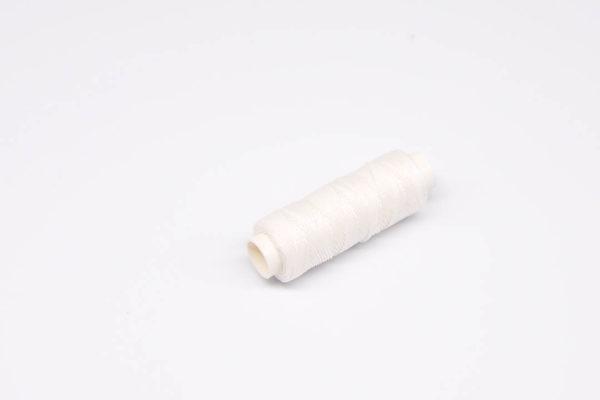 """Нить """"GALACES"""" вощеная круглая 0,55 мм. Белая-s000"""