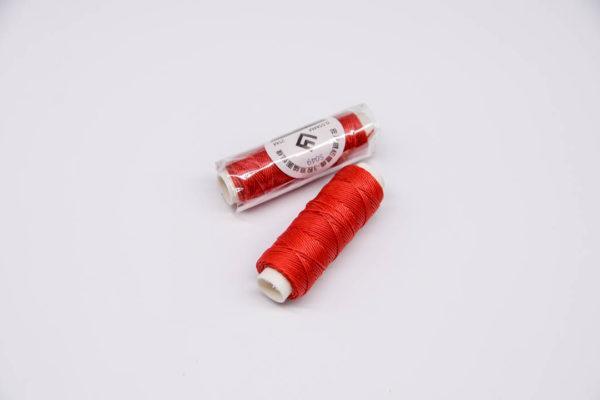"""Нить """"GALACES"""" вощеная круглая 0,55 мм. Красная-s049"""