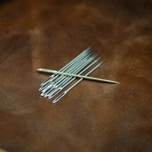 Игла для ручного шитья с большим ушком 5 см.-1154