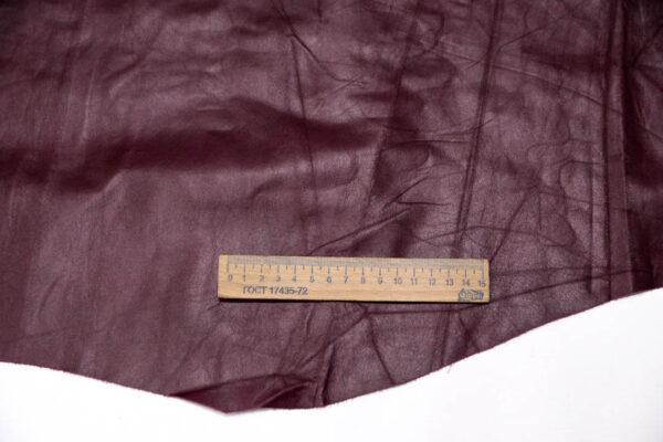Кожа одежная КРС, бордовая, 14 фут. (130 дм2)-PT1-1