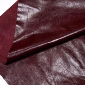 Кожа одежная КРС, бордовая, 19,5 фут. (181 дм2)-PT1-2
