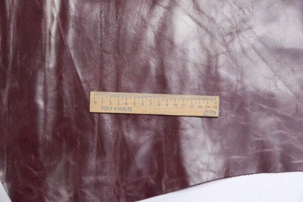 Кожа КРС, бордовая, 147 дм2.-PT1-21