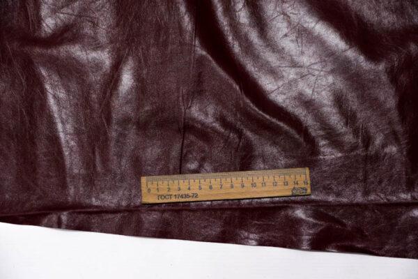 Кожа одежная КРС, бордовая, 19,25 фут. (179 дм2)-PT1-3