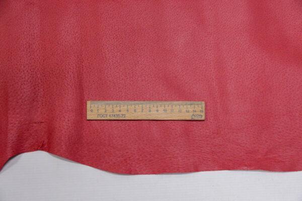 Кожподклад свиной (спилок) вощёный, малиновый, 11,25 фут (105 дм2).-PT1-49