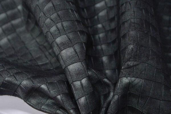 Спил КРС с тиснением, черно-зеленый, 98 дм2.-PT1-62