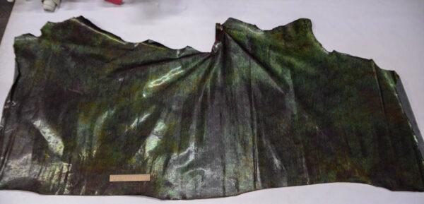 Лак КРС с тиснением, с эффектом пул ап (Pull Up), коричнево-зеленый хамелеон, 156 дм2.-PT1-72