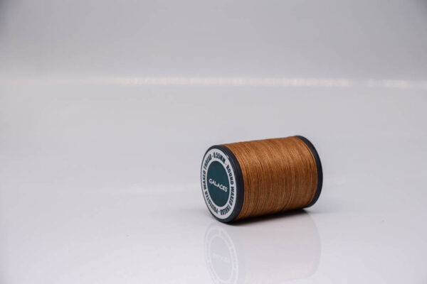 """Нить """"GALACES"""" вощеная круглая 0,55 мм. Светло-коричневая-s018"""
