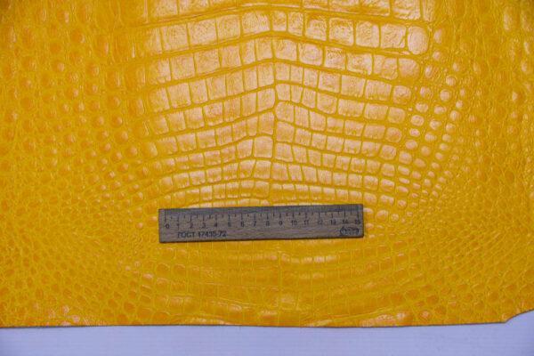 Кожа КРС с тиснением, желтая, 211 дм2.-AB1-90
