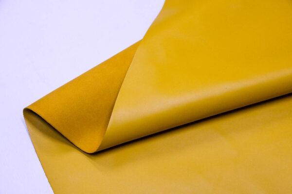 Кожа КРС, желто-горчичная, 102 дм2.- D1-102