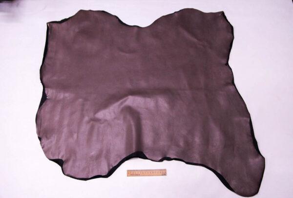 Стрейч кожа теленка, серо-розовая, 65 дм2. -109589