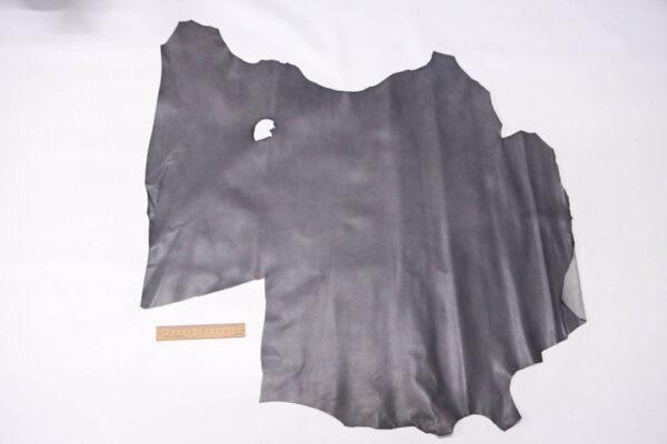 Кожа теленка, темно-серая, 50 дм2. -109591