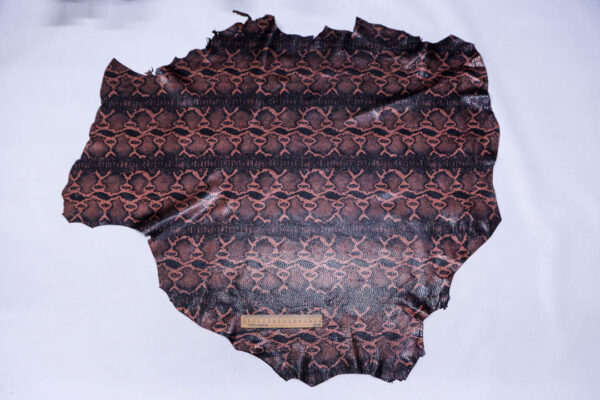 Кожа одёжная МРС с принтом, черно-бронзовая, 6,5 фут. (60 дм2)-200101