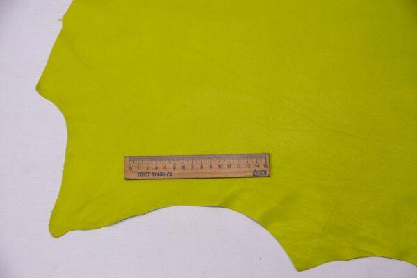 Кожа одёжная МРС, салатовая, 7,25 фут. (67 дм2)-200110
