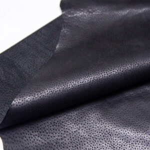 Кожподклад свиной (спилок) вощёный, черный, 60 дм2.-PT1-76