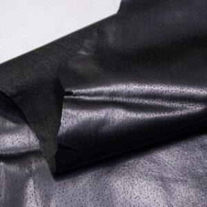 Кожподклад свиной (спилок) вощёный, черный, 48 дм2.-PT1-77