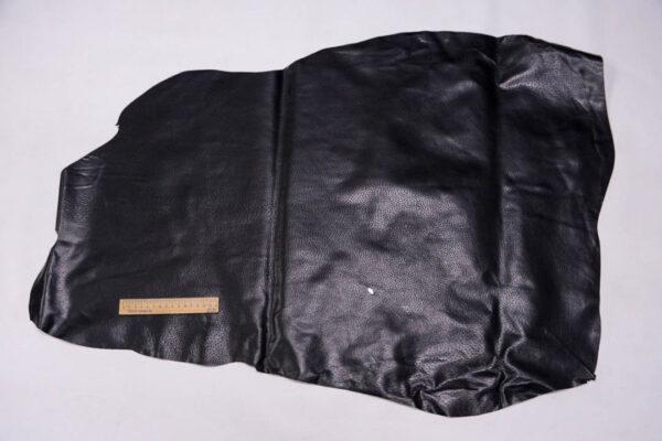 Кожподклад свиной (спилок) вощёный, черный, 52 дм2.-PT1-79