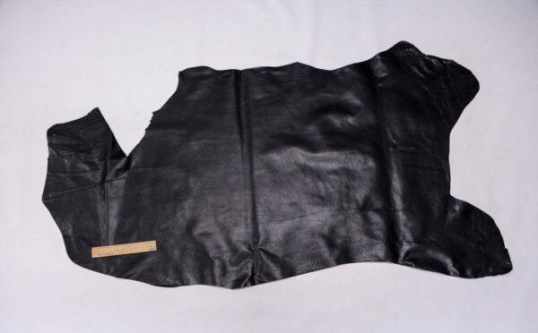 Кожподклад свиной (спилок) вощёный, черный, 60 дм2.-PT1-80
