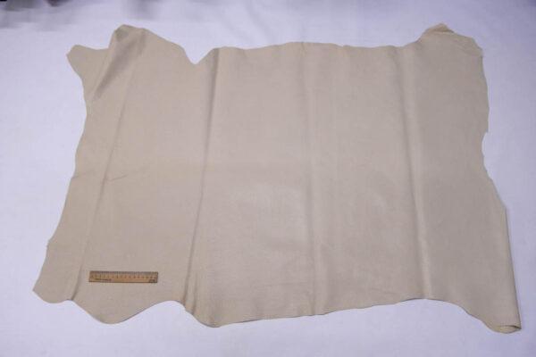 Кожподклад свиной (спилок) вощёный, светло-бежевый, 90 дм2.-PT1-84