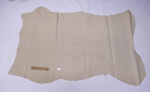 Кожподклад свиной (спилок) вощёный, светло-бежевый, 90 дм2.-PT1-85