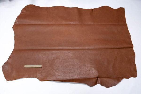 Кожподклад свиной (спилок) вощёный, коньячный, 101 дм2.-PT1-94