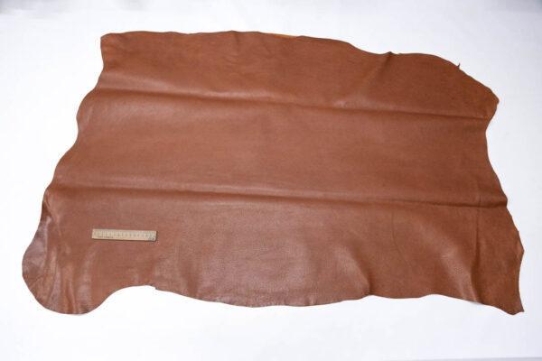 Кожподклад свиной (спилок) вощёный, коньячный, 94 дм2.-PT1-95