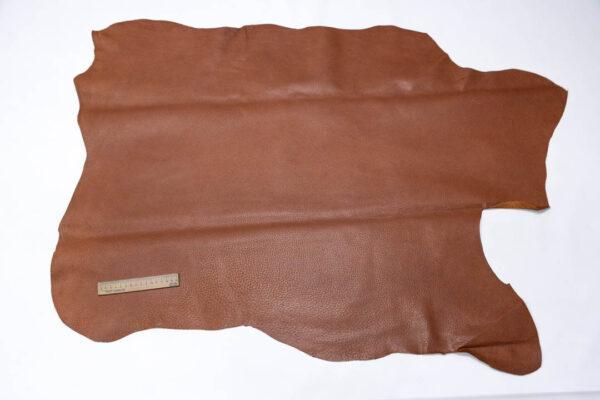 Кожподклад свиной (спилок) вощёный, коньячный, 72 дм2.-PT1-96