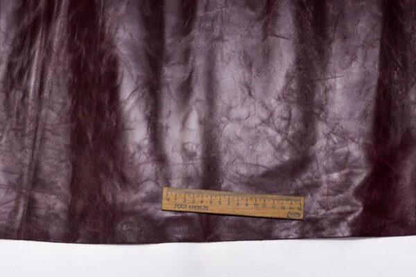 Кожа КРС, бордовая, 65 дм2.-PT1-98