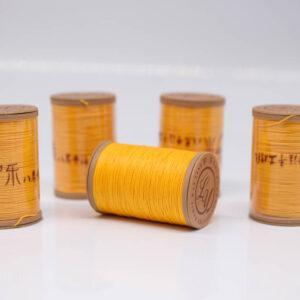 """Нить """"GALACES"""" вощеная круглая 0,55 мм. Волокно RAMIE. Желто-оранжевая-m013"""