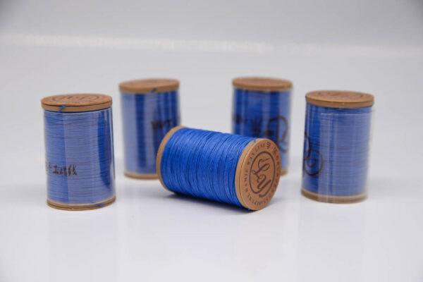"""Нить """"GALACES"""" вощеная круглая 0,55 мм. Волокно RAMIE. Ярко-синяя-m027"""
