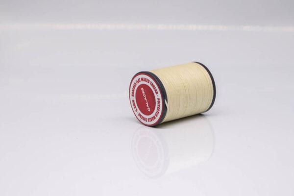 """Нить """"GALACES"""" вощеная плоская 0,8 мм. Молочная-s002"""