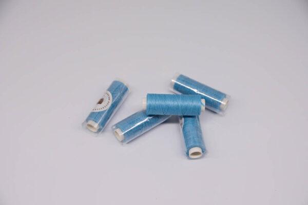 """Нить """"GALACES"""" вощеная плоская 0,8 мм. Голубая-s010m"""