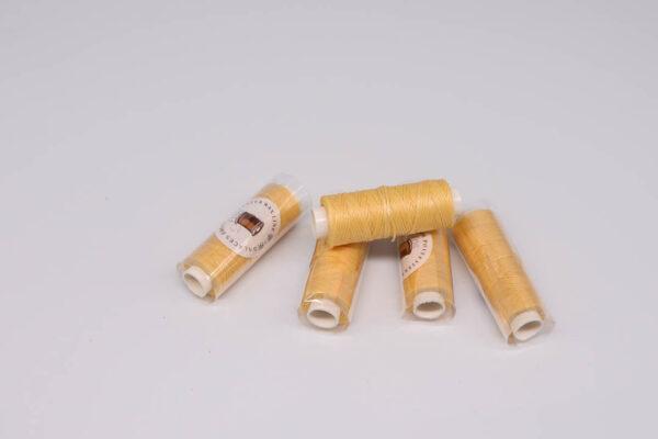 """Нить """"GALACES"""" вощеная плоская 0,8 мм. Светло-желтая-s011m"""