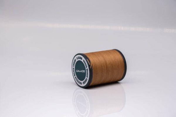 """Нить """"GALACES"""" вощеная круглая 0,65 мм. Коричневая-s019"""