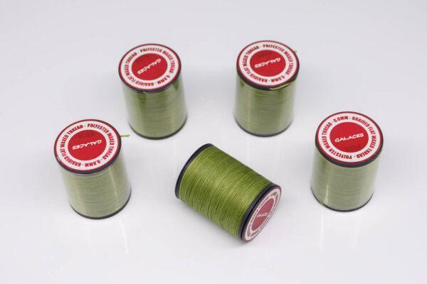 """Нить """"GALACES"""" вощеная плоская 0,8 мм. Зеленая трава-s034"""