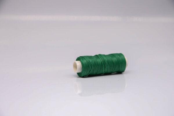 """Нить """"GALACES"""" вощеная плоская 0,8 мм. Зеленая-s035m"""