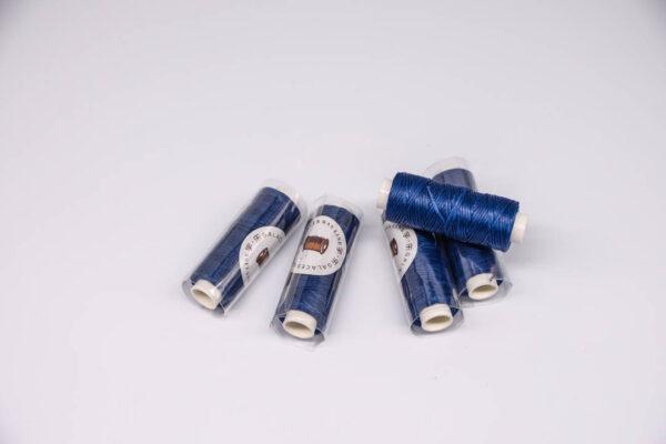 """Нить """"GALACES"""" вощеная плоская 0,8 мм. Синий — s038m"""