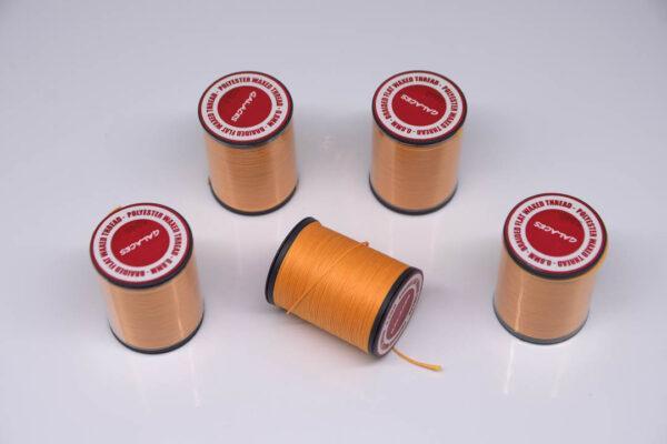 """Нить """"GALACES"""" вощеная плоская 0,8 мм. Светло оранжевый - s040"""